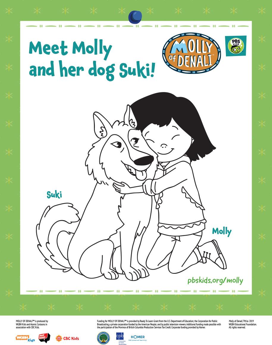 Molly of Denali Suki Coloring Page