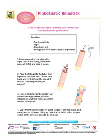 Pinkalicious Rainstick Activity