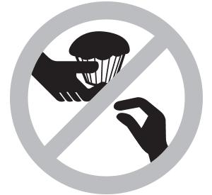 'No cupcakes' sign.