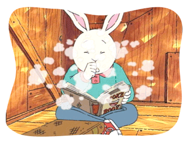 The dust from Buster's book makes him cough.