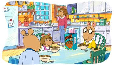 A sandwich that looks like Arthur!