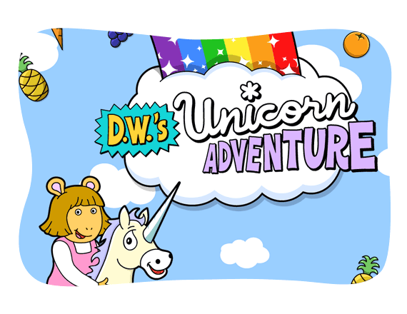 D.W.'s Unicorn Adventure game.