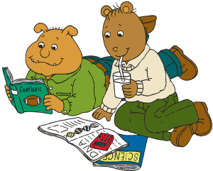 Binky and Brain read together.