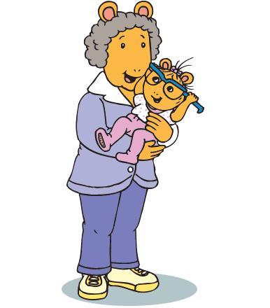 Grandma holding Baby Kate.