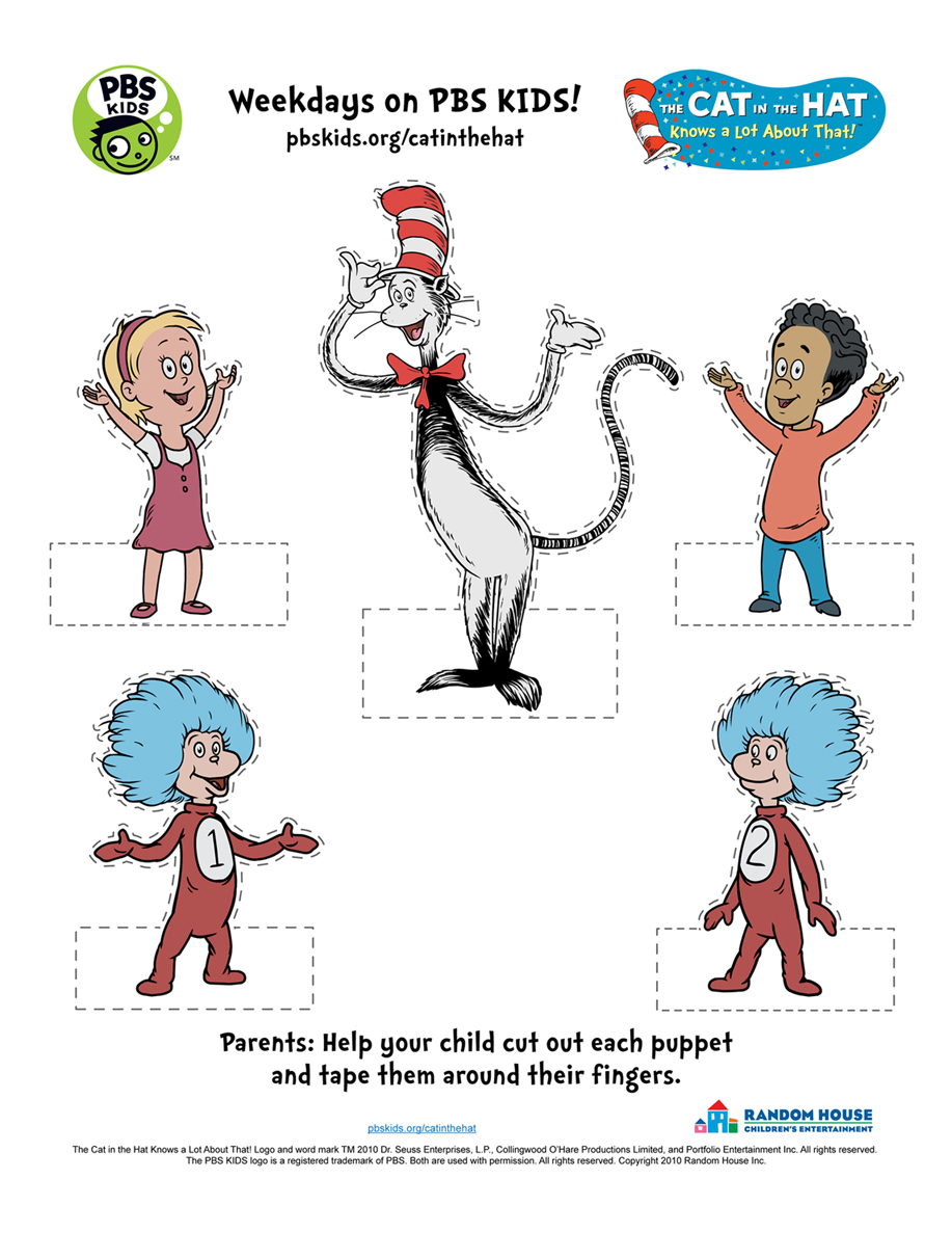 graphic relating to Printable Dr Seuss Characters called The Cat inside the Hat . Printable Things to do PBS Youngsters