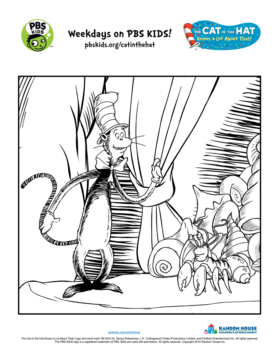 graphic relating to Cat in the Hat Printable Activities titled Dr Seuss Coloring Web pages For Infants