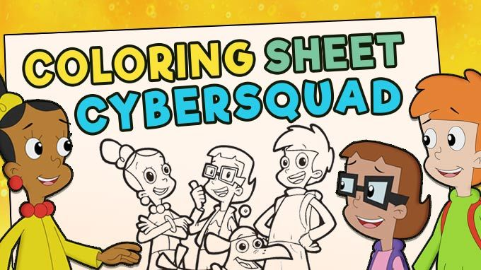 Coloring Sheet - CyberSquad