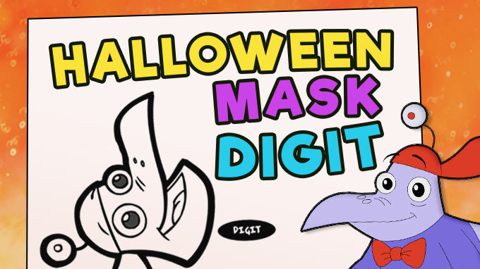 Halloween Mask - Digit