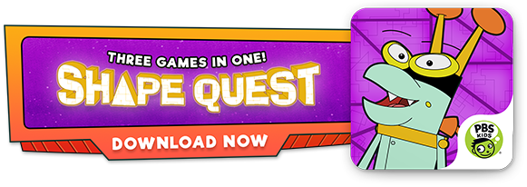 Three Games in One! Shape Quest