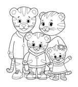 graphic regarding Daniel Tiger Printable titled Print Colour Daniel Tigers Community PBS Small children