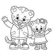 graphic relating to Daniel Tiger Printable known as Print Shade Daniel Tigers Area PBS Young children