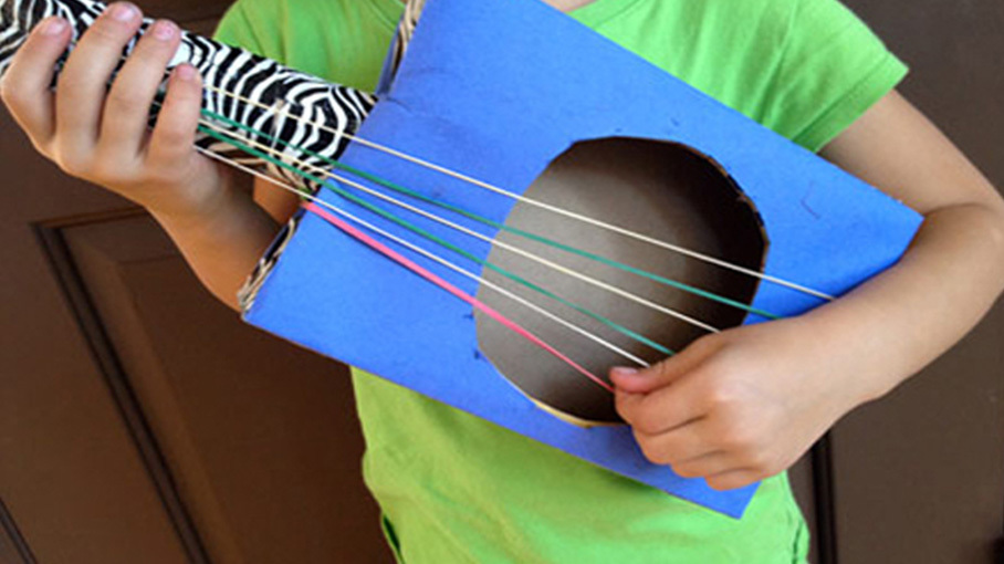 Create a Cardboard Guitar | Crafts for Kids | PBS KIDS for Parents