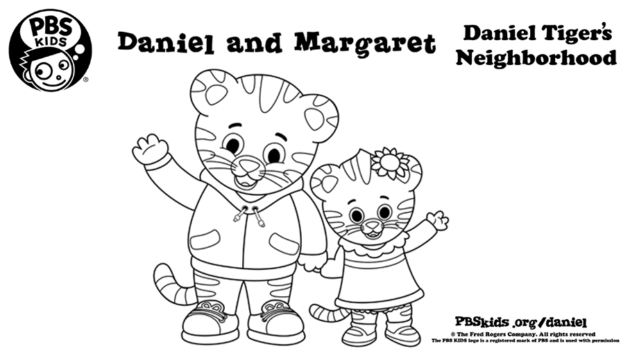 Daniel And Margaret Coloring Page Kids… PBS KIDS For Parents