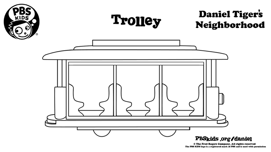 Trolley Coloring Page Kids Coloring Pages PBS KIDS For Parents
