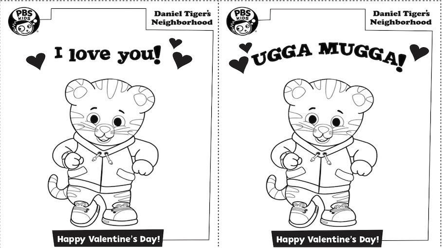 Daniel Tiger Valentine's Day Cards Kids… PBS KIDS For Parents