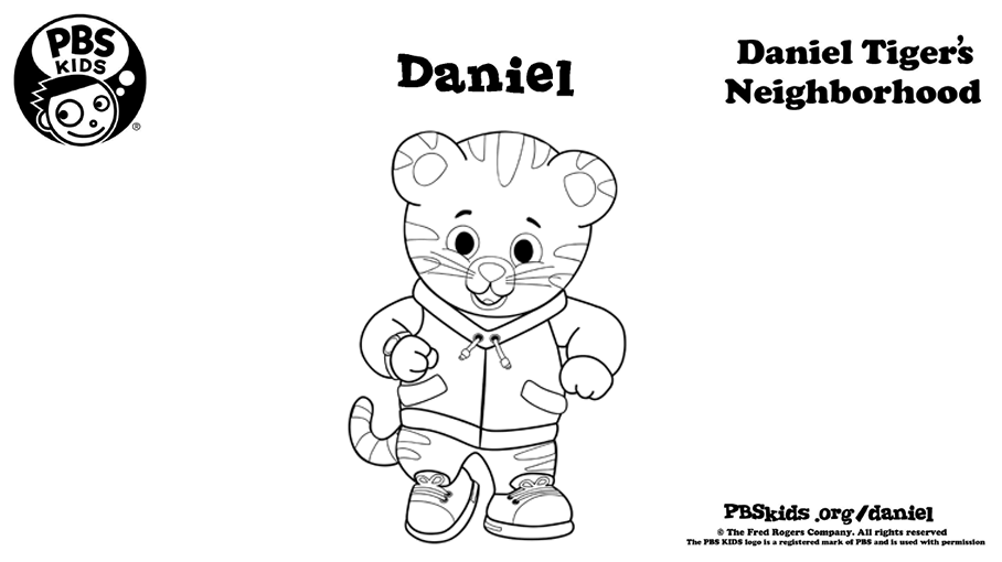 picture regarding Daniel Tiger Coloring Pages Printable identified as Daniel Tiger Coloring Web site Little ones Coloring PBS Children for