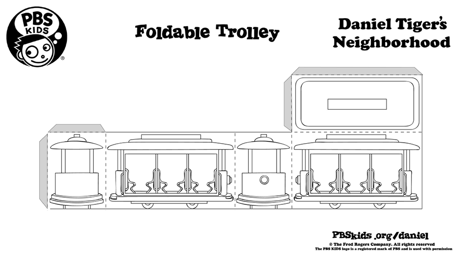 Foldable Trolley Kids Coloring Pages Pbs Kids For Parents