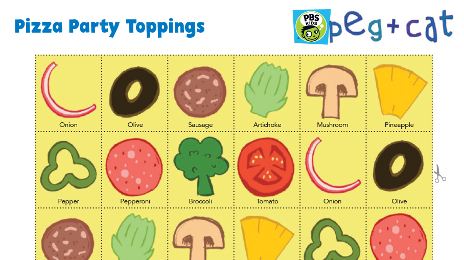 image regarding Printable Pizza Toppings called Large Pizza Occasion Print and Perform Little ones PBS Little ones for Moms and dads