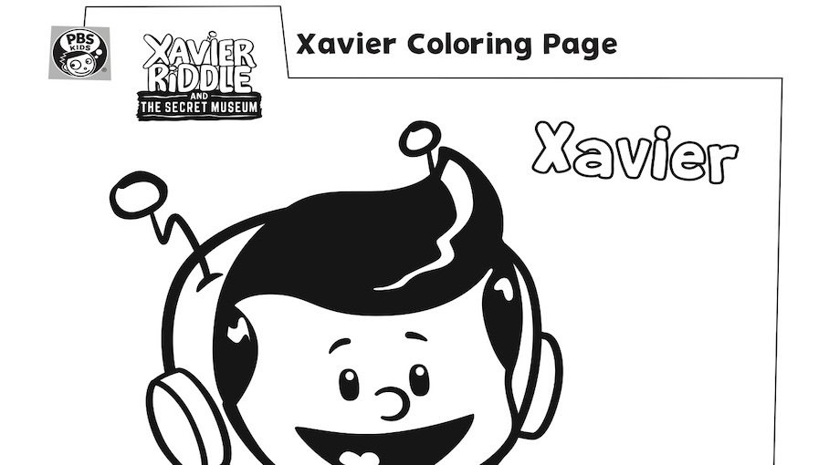 Xavier Coloring Page Kids Coloring Pages PBS KIDS For Parents