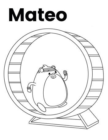 Team Hamster! Mateo Coloring