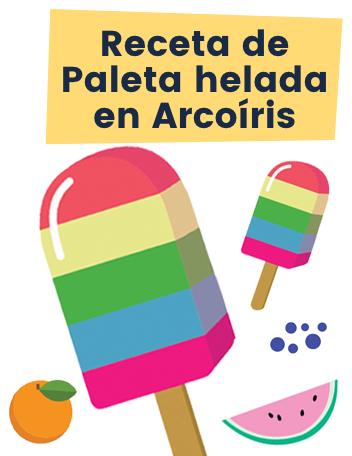 Ruff Receta de Paleta helada en Arcoiris