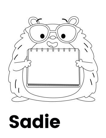 Team Hamster! Sadie Coloring