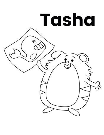 Team Hamster! Tasha Coloring