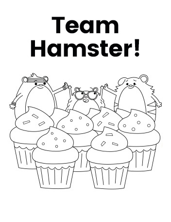 Team Hamster! Hamsters Coloring Page