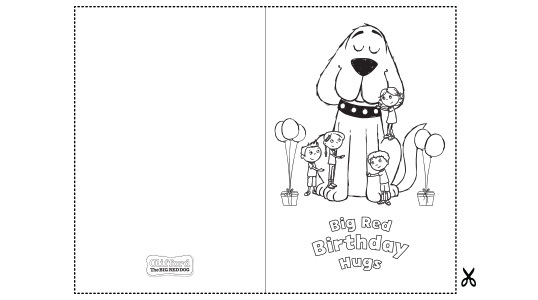 - Clifford Birthday Card Kids Coloring Pages PBS KIDS For Parents