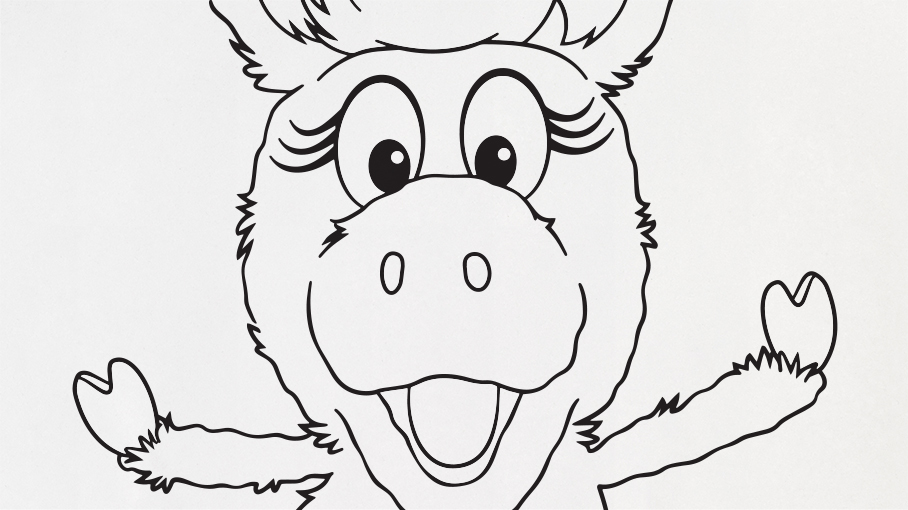 Donkey Hodie Coloring Page