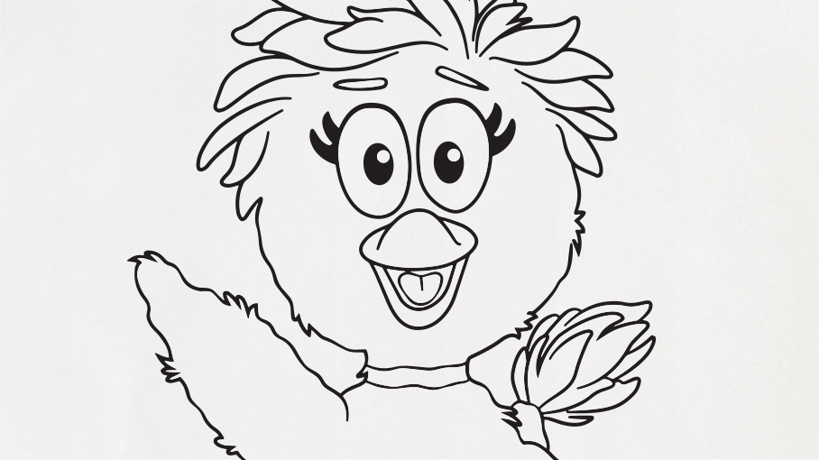 Duck Duck Coloring Page