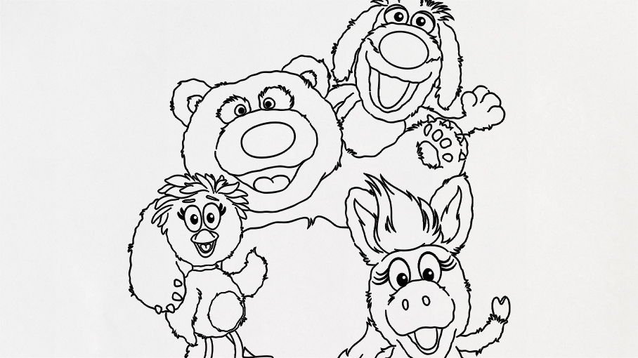 Donkey and Pals Coloring Page