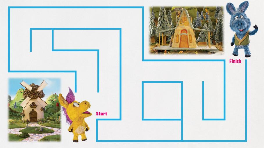 Donkey Hodie Maze
