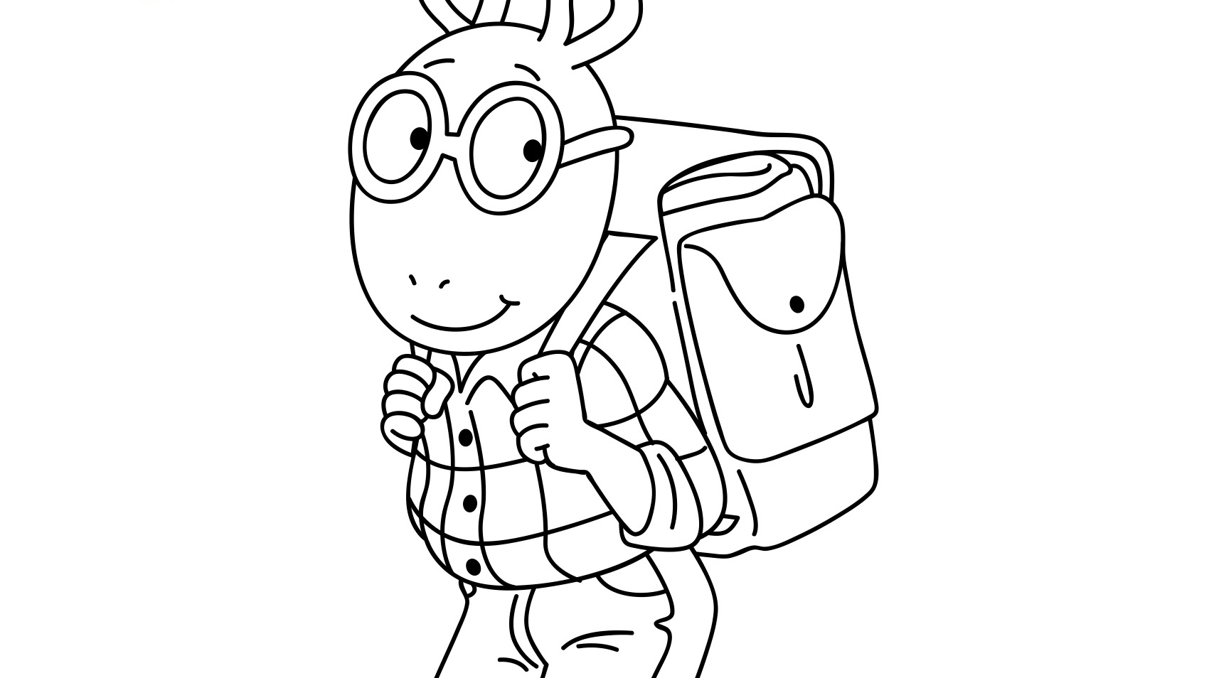 Arthur Read Coloring Page - Free Printable Coloring Pages for Kids   954x1700