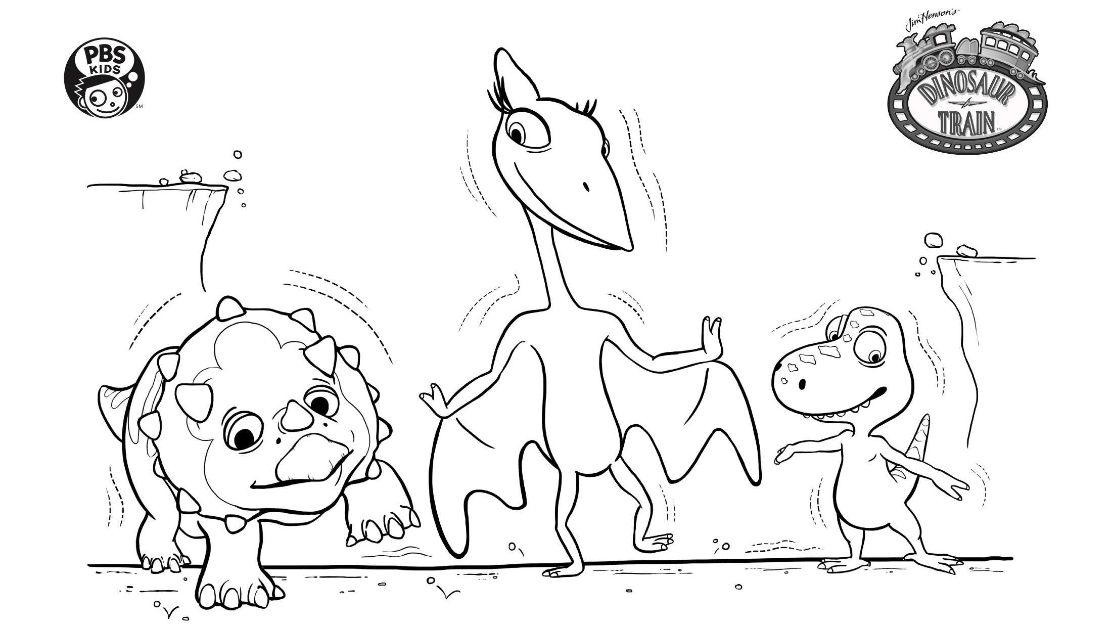 Dinosaur Earthquake Coloring Page Kids Pbs Kids For Parents