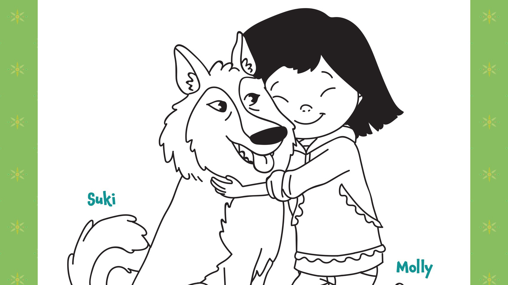 Molly And Suki Coloring Page Kids Coloring Pbs Kids For