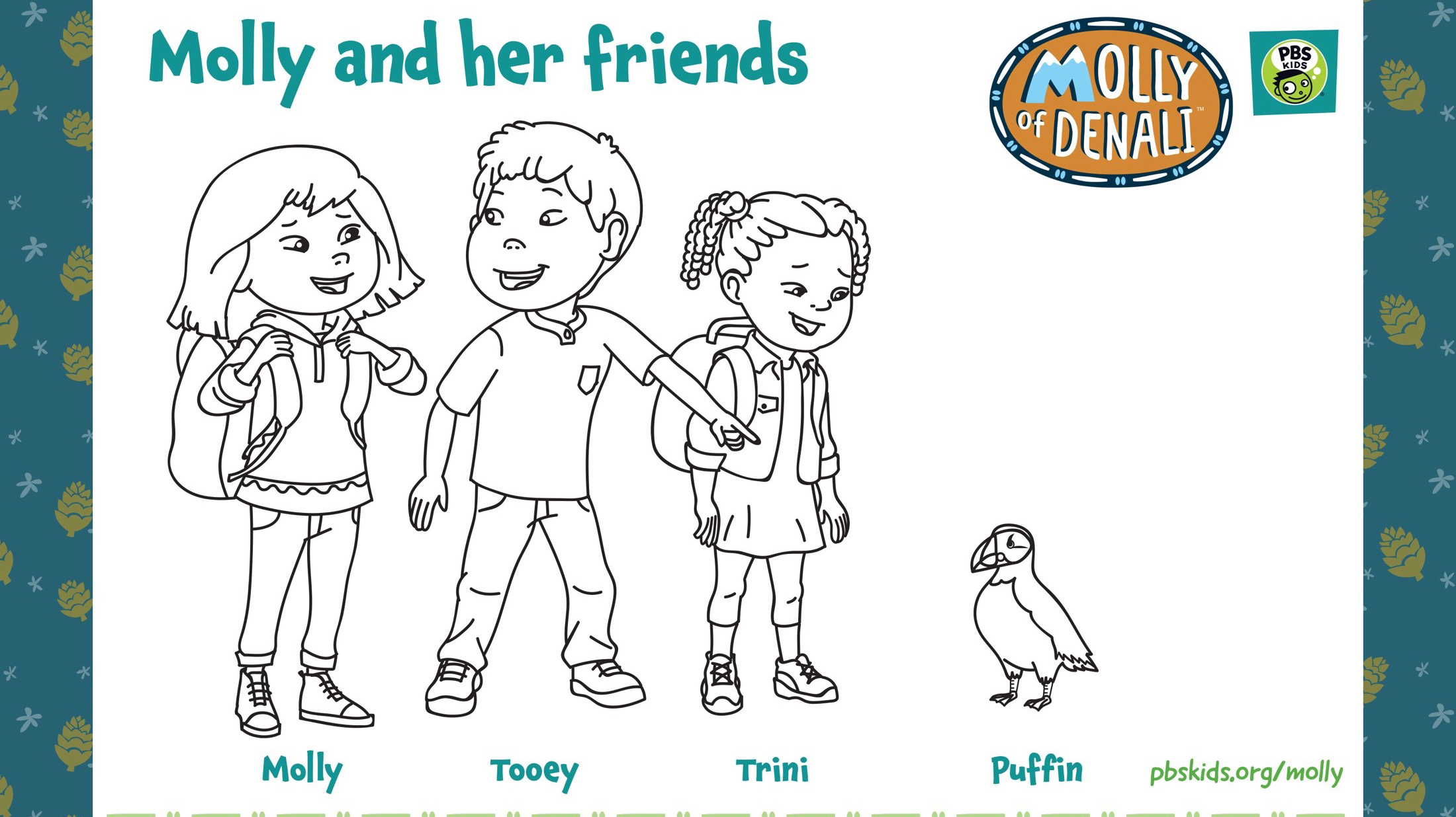 Molly And Friends Coloring Page Kids Coloring Pbs Kids For Parents