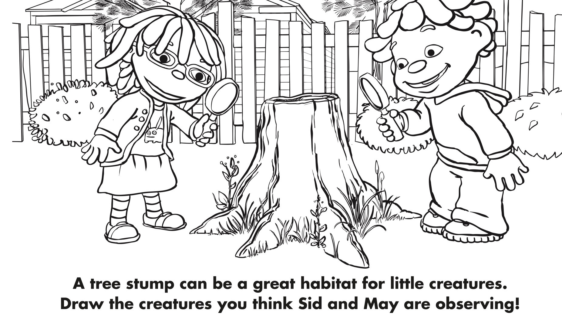 Tree Stump Coloring Page  Kids Coloring Pages  PBS KIDS for Parents