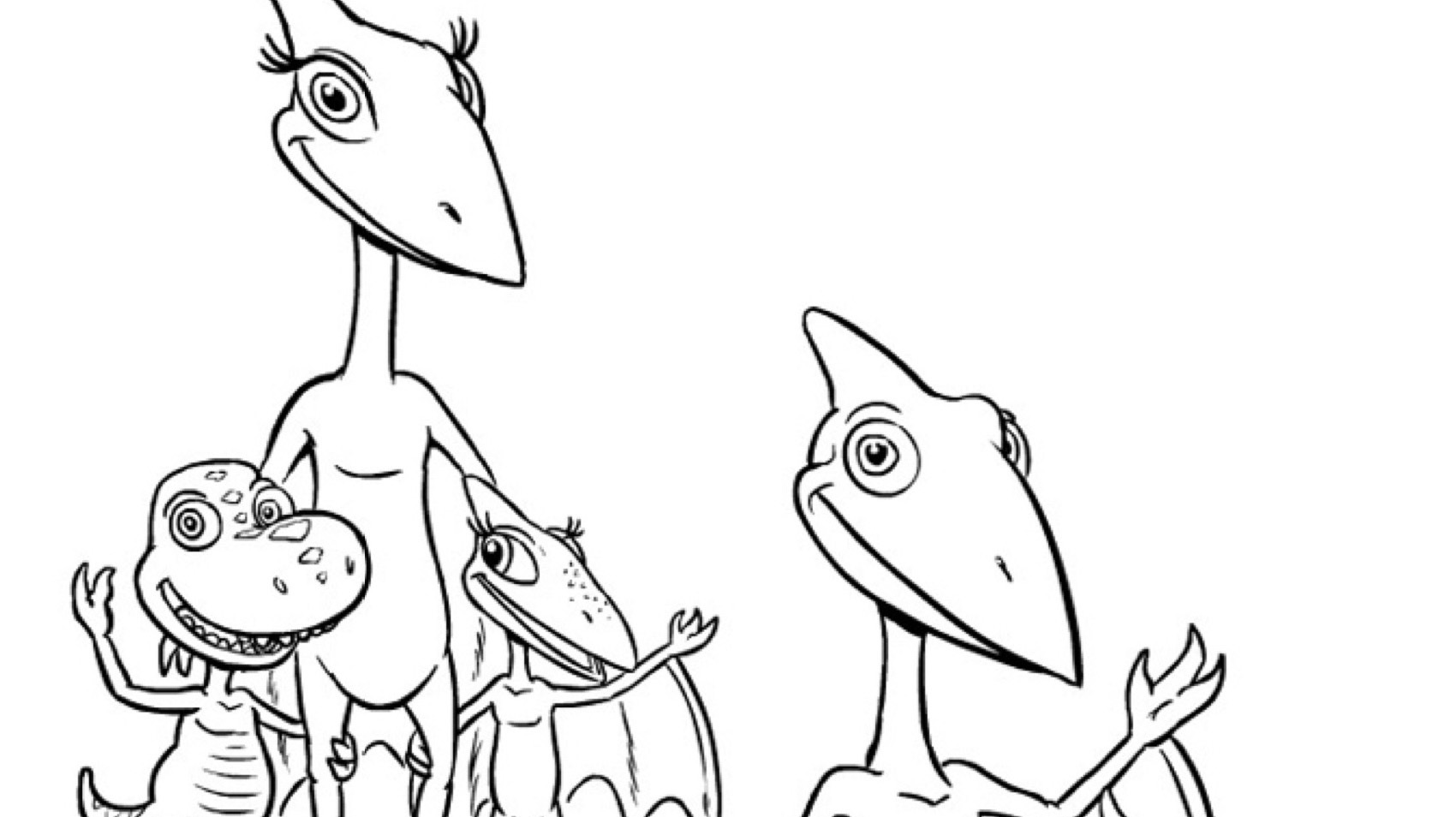 One Big Dinosaur Family Coloring Page Kids Pbs Kids For Parents