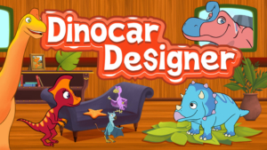Game icon for Dinocar Designer.
