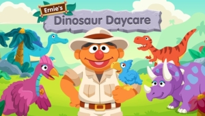 Game icon for Ernie's Dinosaur Day Care.