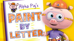 Alpha Pig's Paint By Letter