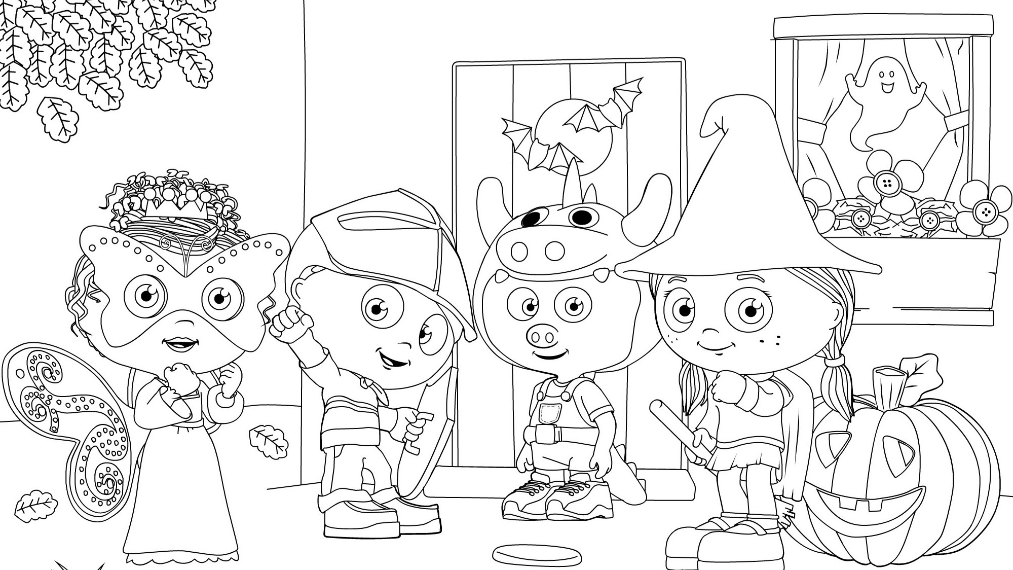Happy Halloween! Coloring Page | Kids Coloring… | PBS KIDS ...
