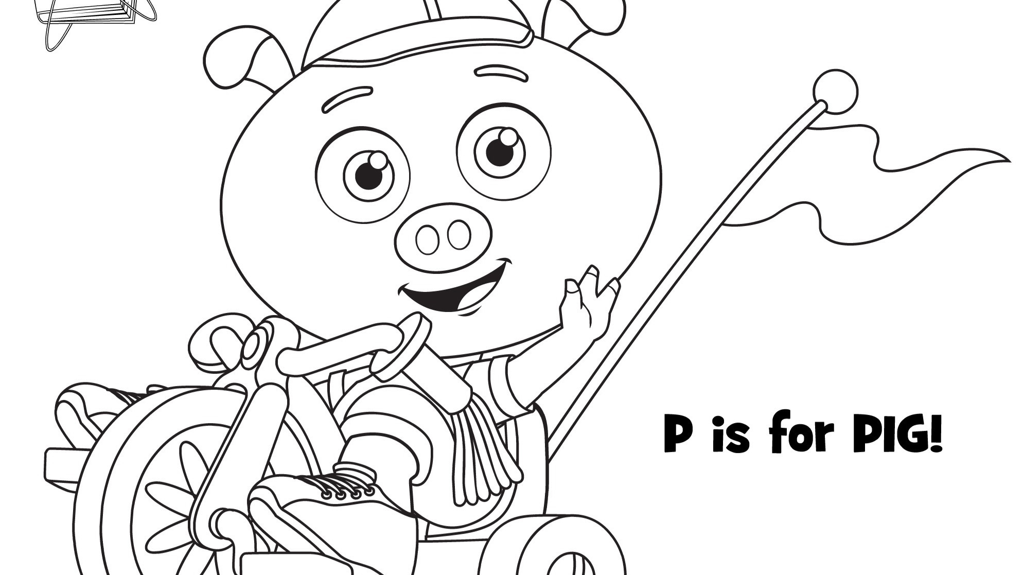 P Is For Pig Coloring Page Kids Coloring Pbs Kids For Parents