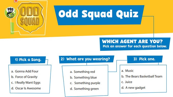 odd squad quiz which agent are you kids pbs kids for parents odd squad quiz which agent are you