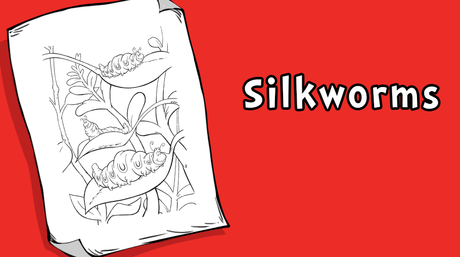 Silkworms-Coloring-Page