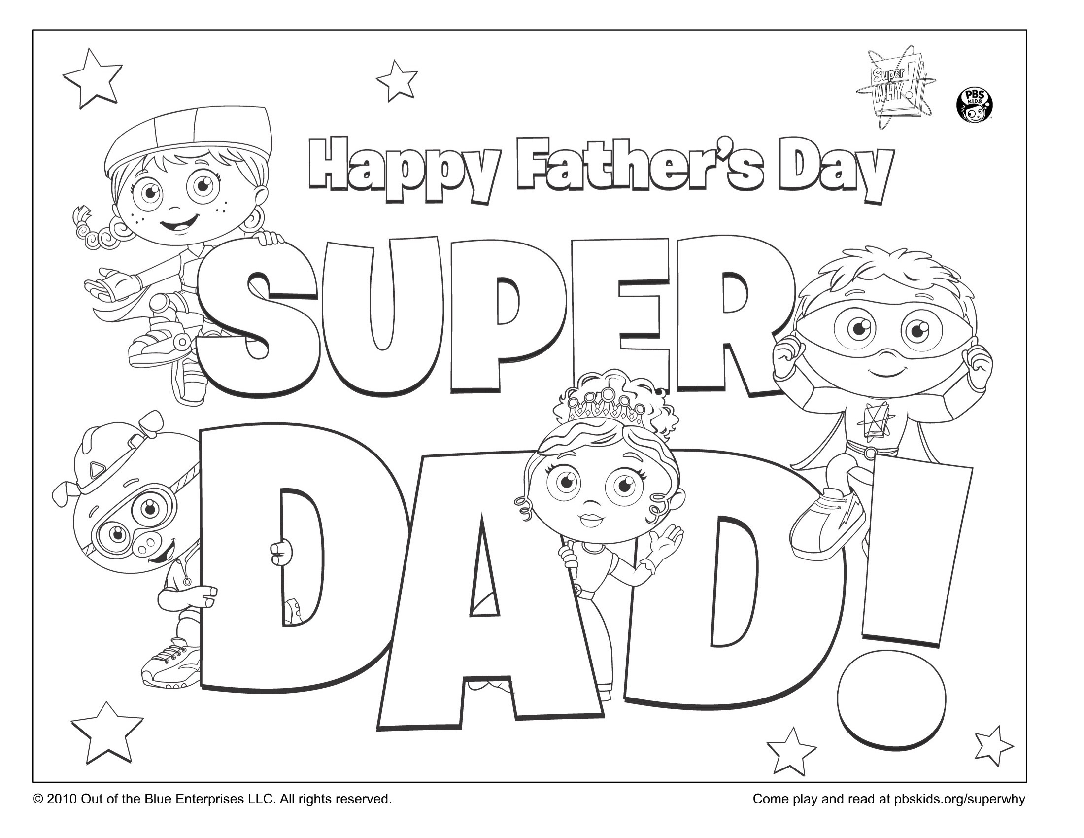 Super Dad Coloring Page Kids Pages Pbs