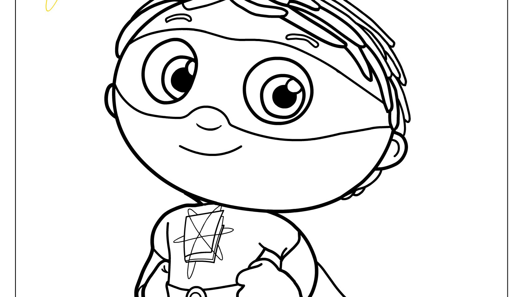 Super Why! Costume Coloring Page  Kids  PBS KIDS for Parents