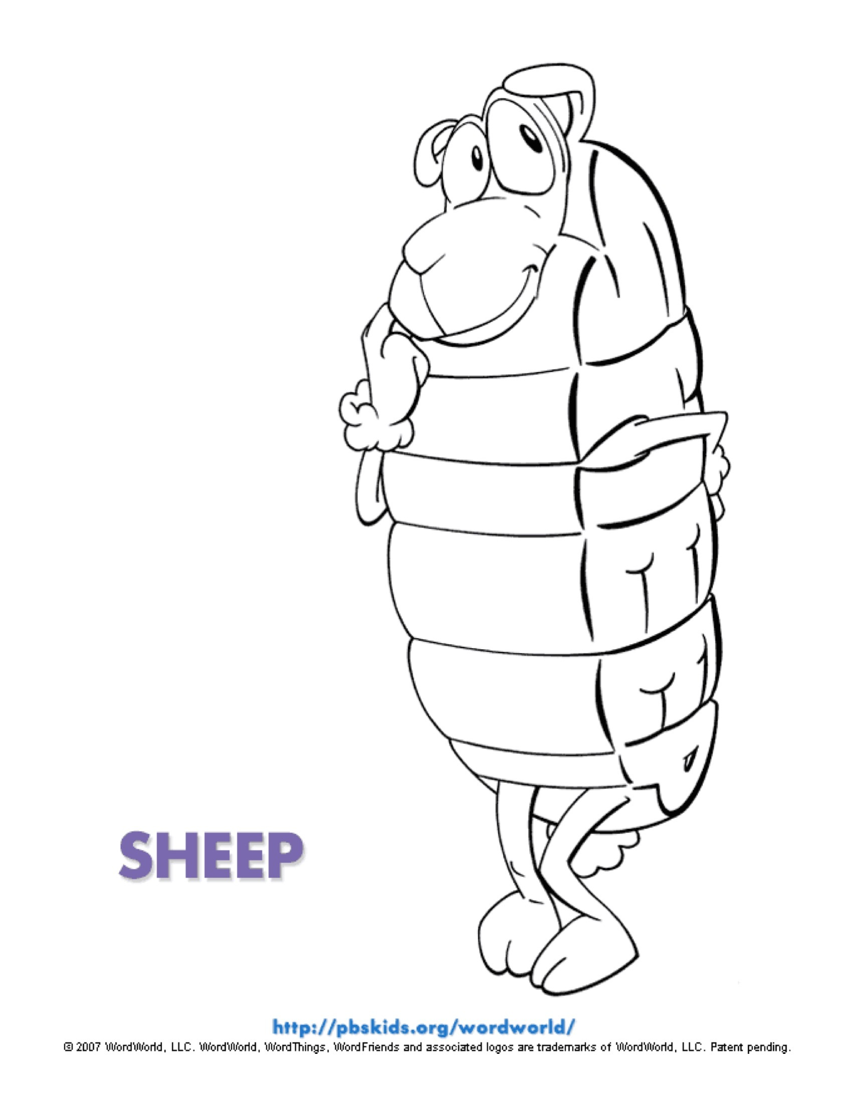 Sheep Coloring Page | Kids Coloring Pages | PBS KIDS for Parents