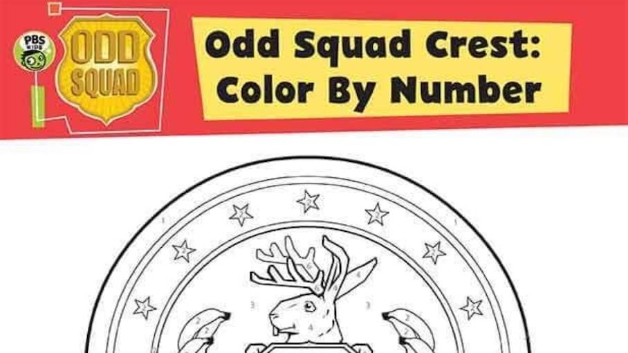 Odd Squad Crest Color By Number Kids Pbs Kids For Parents
